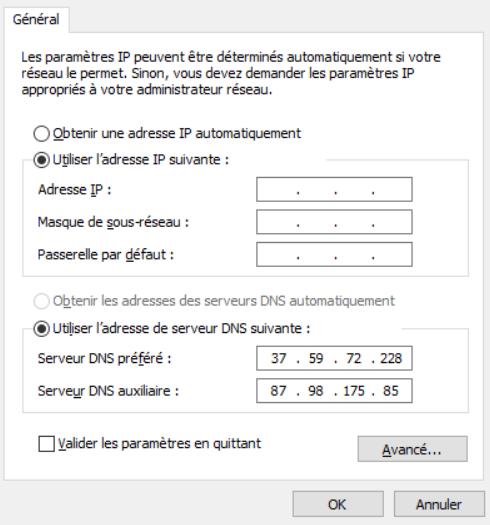 modifier DNS t411