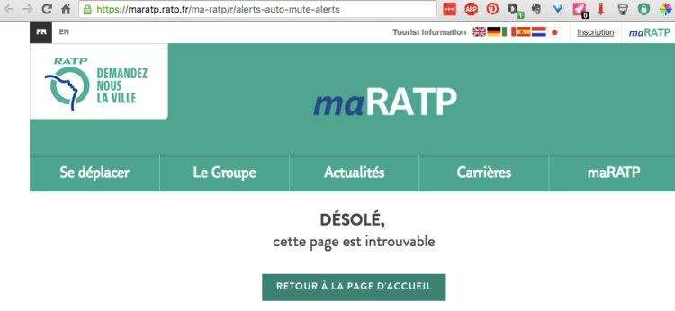 ratp desabo impossible